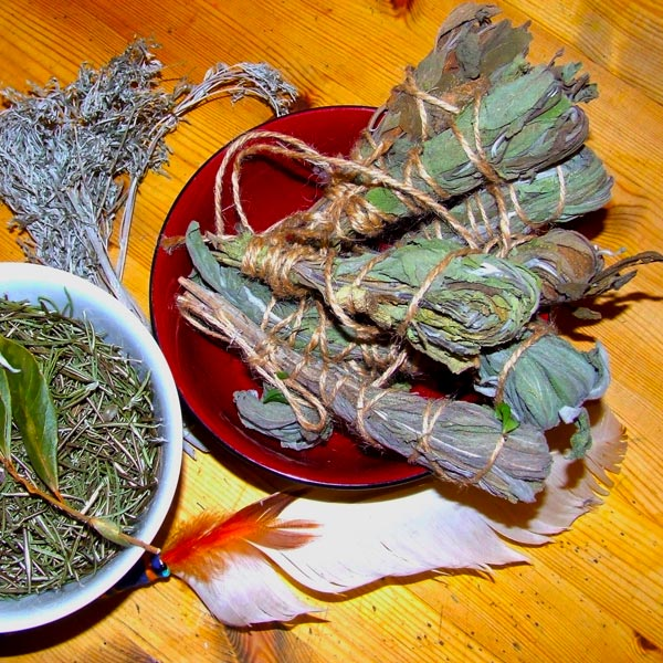 Irish Smudge Herbs - Rosemary, Bay, Sage and Wormwood