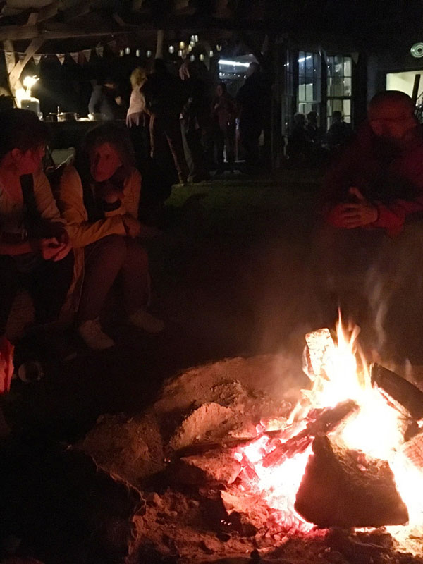 Around the fire at Regenerative Plant Medicine Gathering