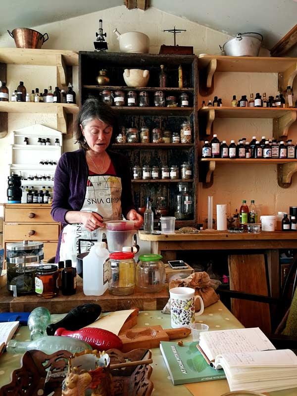 Jane at work in The Exmoor Apothecary