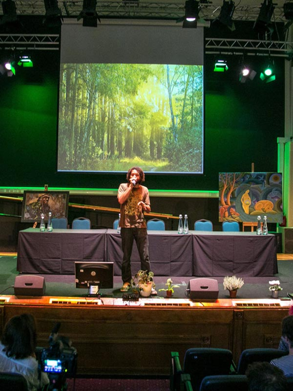 On the stage at Plant Consciousness 2014