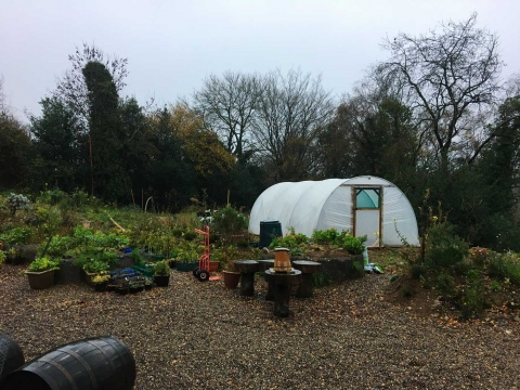 The nursery polytunnel arrives in November 2020